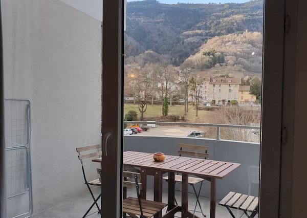 terrasse appartement n°407 résidence les silènes