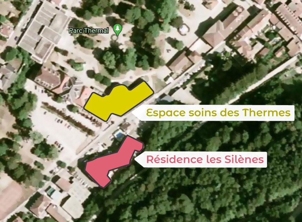 plan d'accès résidence les silènes